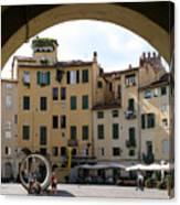 Piazza Antifeatro Lucca Canvas Print