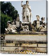 Piazza Del Popolo Fountain Canvas Print