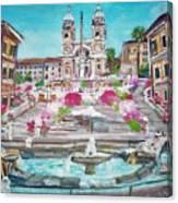 Piazza Di Spagna Canvas Print