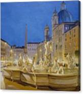 Piazza Navona, Rome Canvas Print