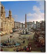 Piazza Novona - Rome Canvas Print