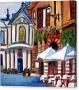 Piazza Romana Canvas Print