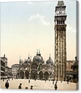 Piazza San Marco, 1890s Canvas Print