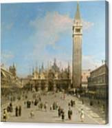 Piazza San Marco Looking Towards The Basilica Di San Marco  Canvas Print