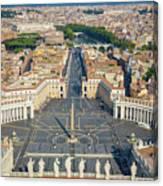 Piazza San Pietro Canvas Print