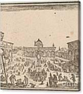Piazza Ss. Annunziata, Florence Canvas Print