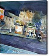 piazza Stesicoro at night Canvas Print