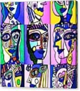 Picasso Blue Women Canvas Print