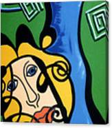 Picasso Influence With A Greek Twist Canvas Print
