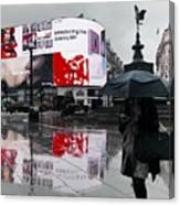 Piccadilly In The Rain Canvas Print