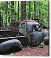 Pick Up Truck In The Woods Canvas Print