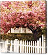 Picket Fence Charm Canvas Print