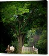 Picket Fence Mailbox Canvas Print