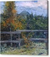 Picket Fence Near Heidelberg Western Cape South Africa Canvas Print