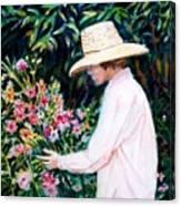 Picking A Bouquet Canvas Print