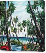 Picking Coconuts .. Mayaro Canvas Print