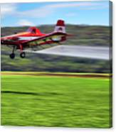 Picking It Up And Putting It Down - Crop Duster - Arkansas Razorbacks Canvas Print