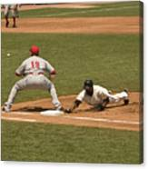 Pickoff Move To 1st Base Canvas Print