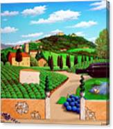 Picnic In Tuscany Canvas Print