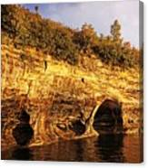 Pictured Rocks Caves Canvas Print