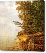 Pictured Rocks Water Canvas Print