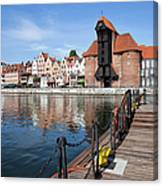 Picturesque City Of Gdansk In Poland Canvas Print