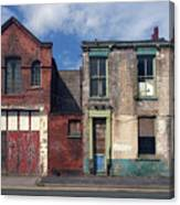 Picturesque Derelict Houses In Hull England Canvas Print