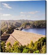 Picturesque Hydroelectric Dam Canvas Print