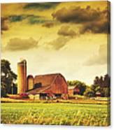 Picturesque North Dakota Farm Canvas Print