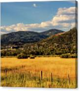 Picturesque View Of Steamboat Springs Colorado Canvas Print
