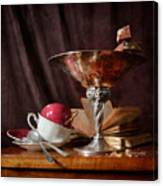 Piece Of Wafer In Chocolate Canvas Print