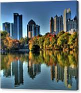Piedmont Park Atlanta City View Canvas Print
