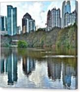 Piedmont Park Atlanta Reflection Canvas Print