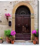 Pienza Doorway Canvas Print