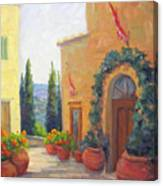 Pienza Passage Canvas Print