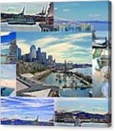 Pier 66 Collage Canvas Print