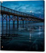 Pier At Dusk Canvas Print