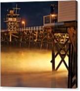 Pier At Night Canvas Print