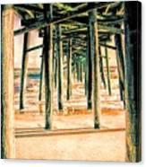Pier Crisscross Canvas Print