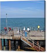 Pier Fishing At Llandudno Canvas Print