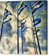 Pier Flags Canvas Print