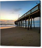 Pier For Breakfast Canvas Print
