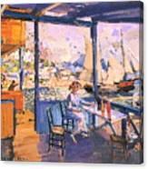 Pier In Gurzuf  Canvas Print