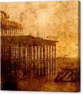 Pier Into The Depths Canvas Print