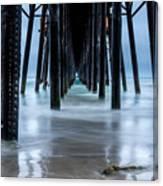 Pier Into The Ocean Canvas Print