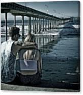 Pier Love Canvas Print
