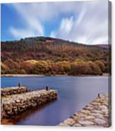 Pier On The Upper Lake In Glendalough - Wicklow, Ireland Canvas Print