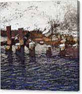 Pier Piles Canvas Print