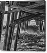 Pier Storm Canvas Print