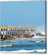 Pier Surf Canvas Print